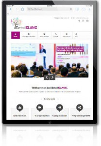 ipad_detailklang website