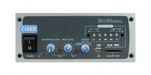 3-in-1 – Der Cloud MA-60 Media – Mischverstärker mit integriertem Mediaplayer